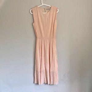& other stories peach midi dress.